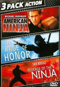 AMERICAN NINJA, RAGE OF HONOR, REVENGE OF THE NINJA DVD, REG 1, RARE - FREE POST