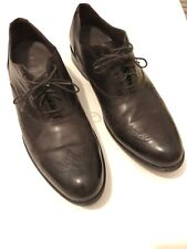 Cole Haan Leather Wingtip Oxford Dark Brown Men's Size 10M lace Up Dress Shoe