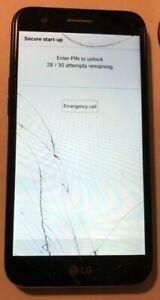 BROKEN LG Harmony 16GB (Cricket) M257 Smartphone Fast Ship PARTS Pin Lock Cracks