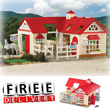 Breyer Stablemates Set Horse Stable Farm Equipment Toys Pretend Play Kids Child