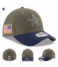 DALLAS COWBOYS New Era 2017 Salute To Service 3930 Flex Hat – Olive M/L