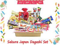 Sakura Japan Dagashi Set Japanese Candy Chocolate Snacks - 20 Pieces Box NEW!