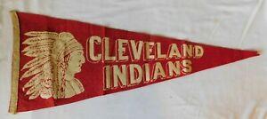 Early 1940s CLEVELAND INDIANS   Pennant Flag - Ohio Baseball