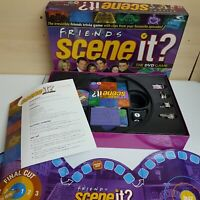 Friends Scene It Board Game Trivia Game With DVD Mattel 2005 Complete