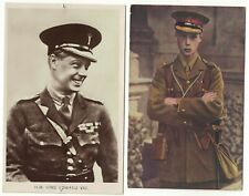 2  Photograph Postcards of Edward VIII in Army Uniform One During World War One
