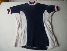 maillot de vélo vintage bleu blanc rouge 60cm x 45cm