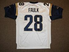 Marshall Faulk St. Louis Rams White Authentic Jersey Reebok sz 48 New Mens HOF