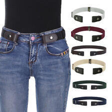 bf03035f04a Women s Buckle-Free Elastic Belts Invisible Belt for Jeans No Bulge Hassle  Band