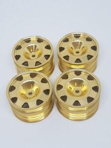 kyosho turbo optima mid Alloy wheels set Atype Gold