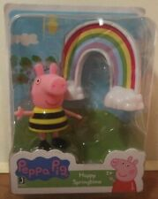 Brand New PEPPA PIG: Happy Springtime PEPPA & RAINBOW Jazwares PEP0482 3+