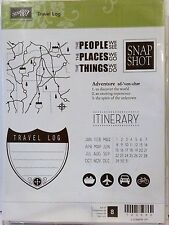 Stampin Up TRAVEL LOG clear mount stamps NEW Road Trip map calendar