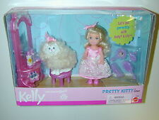 NEW Kelly Pretty Kitty Gift Set Mattel 2000 Barbie's Little Sister Doll Cat B