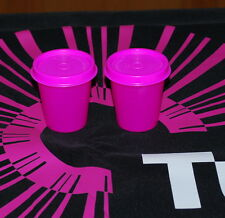 TUPPERWARE SET OF 2 Midget NEW ELECTRIC PINK TUPPERWARE MINI BPA FREE SHIP