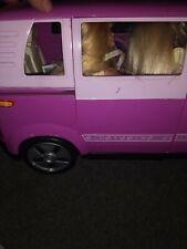 Barbie Volkswagen Microbus Vehicle SUV VAN (PURPLE) w Working Horn &Sliding door