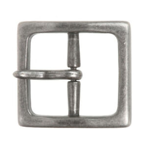 "1 5/8"" (40 mm) Nickel Free Center Bar Single Prong Square Belt Buckle"