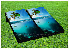 VINYL WRAPS Cornhole Boards DECALS Coral Reef BagToss Game Stickers 595