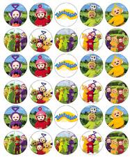 30 x Teletubies Cupcake Toppers Edible Wafer Paper Fairy Cake Toppers
