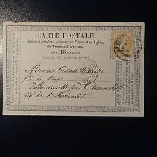 CÉRÈS N°59 CARTE CP PRÉCURSEUR LETTRE COVER CAD ANGERS POUR CLERMONT L'HÉRAULT