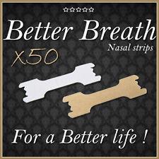 50 SMALL/MED NASAL STRIPS,BETTER BREATHE,SNORING,SLEEPING,RUN,FITNESS,GOLF #B1