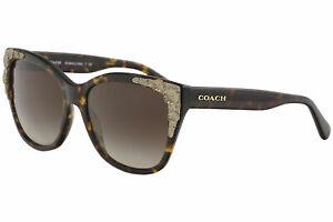 Coach Women's HC8244 HC/8244 541713 Dark Tortoise/Gold Square Sunglasses 56mm