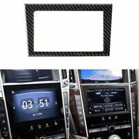 Carbon Fiber Navigation Frames Panel Sticker Decals For Infiniti Q50 Q60 14-18