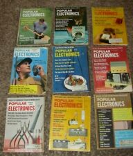 1960's Vintage Lot 9 Popular Electronic Magazine Cb Ham Radio,Tape Recording,+