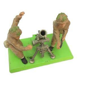 """Vintage BRITAINS Ltd """"Deetail"""" British Mortar Battery, WWII, England, Die Cast"""