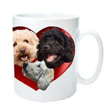 Labradoodle Gift Mug 3 Labradoodles in Heart  Dog Mug Birthday Gift
