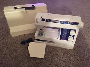 Husqvarna Viking 210 Sew Easy Electronic Sewing Machine With Pedal & Cover Works