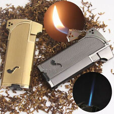 1PC Jobon Metal Jet Double Flame Cigarette Cigar Smoking Pipe Butane Gas Lighter