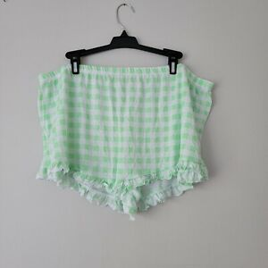 Green/White Checkered Sleep Shorts Sz XL