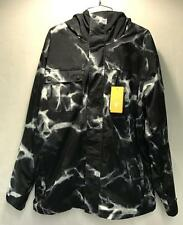 Quiksilver Men's Mission Snowboard Winter Jacket Tie Dye Black White Size XL NEW
