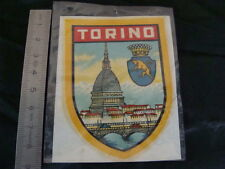 ADESIVO TRASFERIBILE DECAL TORINO SCUDO VESPA LAMBRETTA OLD SCOOTER MADE ITALY