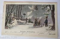 """ Christmas, Dwarf, Angel, Sled, Christmas Tree "" 1904 (22913)"