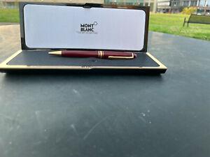 Montblanc Meisterstuck ballpoint pen  black With Gold Trim, W/ box & case