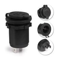 Car Boat Motorcycle Cigarette Lighter Socket Power Plug Outlet 12V Waterproof