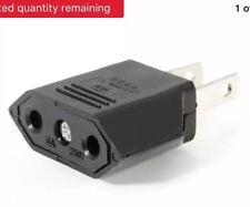 New EU Euro Europe to US USA Power Jack Wall Plug Converter Travel Adapter J ZPH