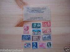 12 Australia Postage Stamps 1956-1963 set of 12