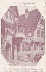 Ansichtskarte Baden Württemberg Lauffen Bauausstellungsplakat von 1908