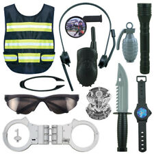 Police Costume Kit For Kids Pretend Play Children Police Officer Ammunition Set