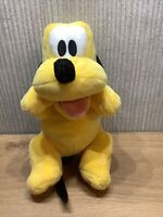 Disney Pluto Plush Soft Toy Large 10 Inch Mickey Mouse Dog Rare Collectable