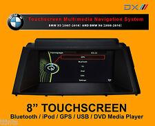 """BMW X5 (07-10) & X6 (08-10) - 8"""" Car Radio DVD CD MP3 Sat Nav iPod BT USB Player"""