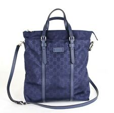 Gucci Unisex Dark Blue Guccissima Nylon Tall Tote Messenger Bag 510333 4275
