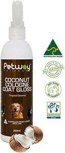 Coconut Cologne Gloss Natural Dog Spray Conditioning Deodorizer Odor Eliminator