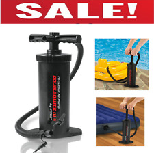 """Double Action Hand Air Pump Inflatable Float Tube Raft Boat Kayak Mattress 14.5"""""""