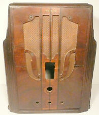vintage PHILCO MODEL 144B (late version)  RADIO TOMBSTONE part:   WOOD SHELL