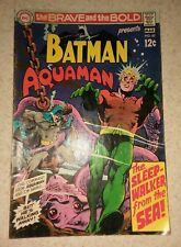 The Brave And The Bold #82 Aquaman batman Neal Adams art 1969 silver age movie