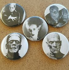 Universal Monsters Pin Back Badge Set The  Wolfman The Mummy