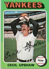 1975 Topps Mini #92 Cecil Upshaw New York Yankees (2018-0729)