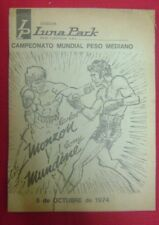 Advertising Boxing World Championship Monzon vs Mundine 1974